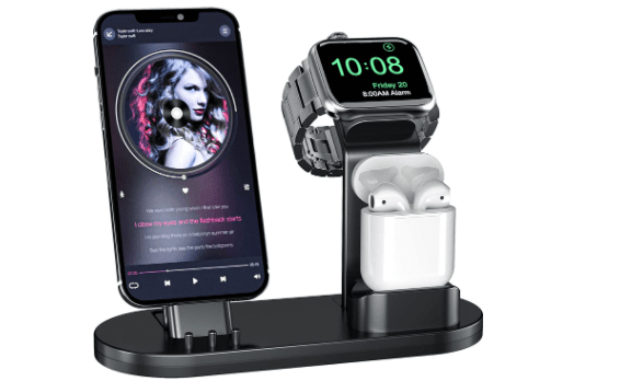 OLEBR 3 in 1 Charging Stand for Apple Watch, AirPods, and iPhone