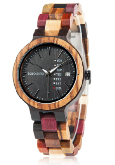 Women's Watches Wooden Colorful Bamboo Watches